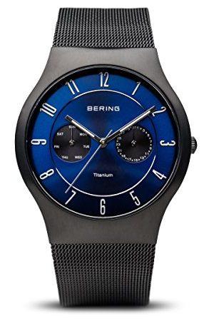 Bering Męski analogowy zegarek kwarcowy z paskiem ze stali nierdzewnej 11939-078