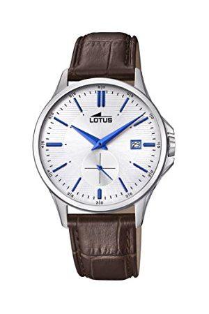 Lotus Męski data klasyczny zegarek kwarcowy ze skórzanym paskiem 18424/1