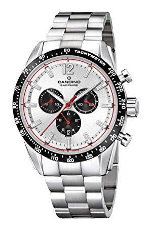 Candino Męski zegarek kwarcowy Chronograf z paskiem ze stali nierdzewnej C4682/1