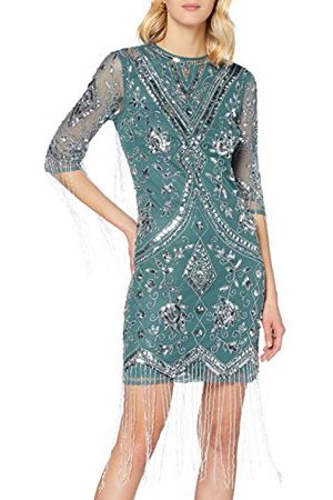 Frock and Frill Damska sukienka Karla zdobiona do kolan formalna noc