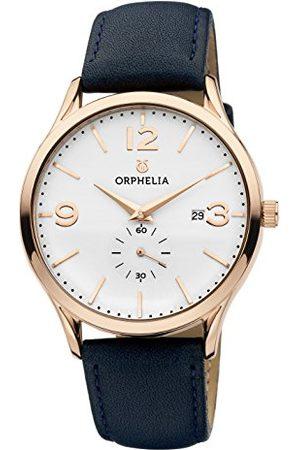 ORPHELIA Męski zegarek na rękę Tiempo analogowy kwarcowy skóra Taśma /