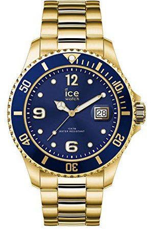 Ice-Watch ICE steel Gold blue - złoty zegarek męski z metalowym paskiem - 016762 (Large)