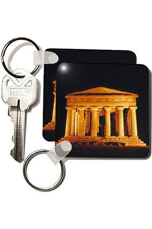3dRose Włochy, Sycylia, Agrigento, świątynia Concord Ruins Eu16 Rer0006 Ric Ergenbright Brelok 6 cm; różni się