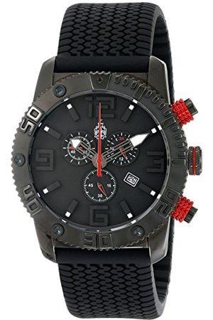 Burgmeister Męski zegarek kwarcowy z czarną tarczą chronografu i czarnym silikonowym paskiem BM521-622E