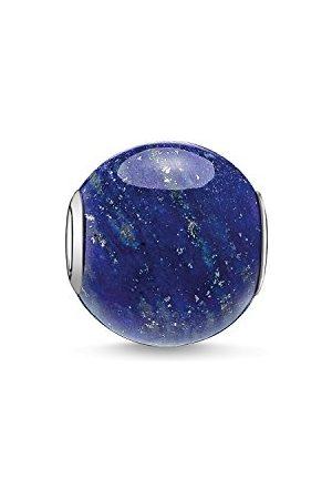Thomas Sabo Damski męski koralik Karma Beads srebro 925 wysokiej próby lapis lazuli polerowany K0071-592-1