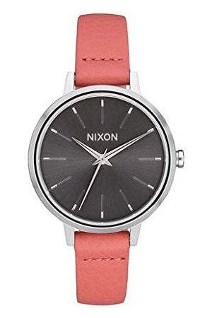 Nixon Damski analogowy zegarek kwarcowy skóra Leder Silver/Black/Red