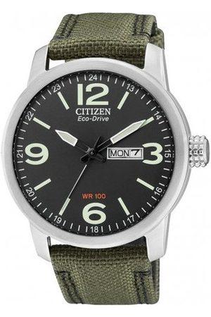 Citizen Męski analogowy zegarek kwarcowy z nylonowym paskiem BM8470-11EE