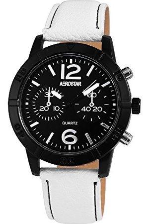 Aerostar Męski analogowy zegarek kwarcowy z imitacji skóry 21107100002