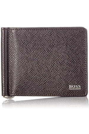 HUGO BOSS Męskie Signature_6cc M Clip portfel na pieniądze, Dark Brown202, rozmiar uniwersalny UE