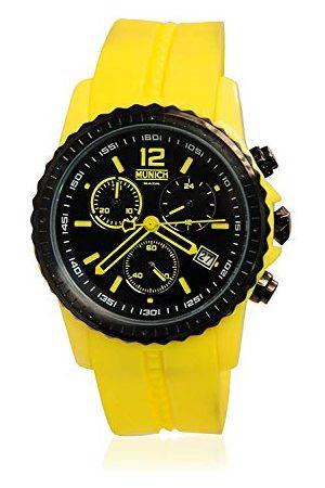 Munich Unisex dla dorosłych, analogowy zegarek kwarcowy z silikonowym paskiem MU+101.9A