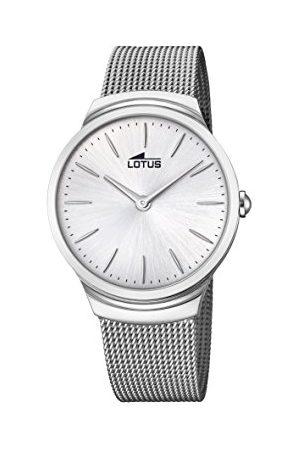 Lotus Męski analogowy klasyczny zegarek kwarcowy z paskiem ze stali nierdzewnej 18493/1
