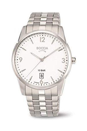 Boccia Męski analogowy zegarek kwarcowy z tytanowym paskiem 3632-01