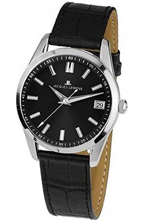 Jacques Lemans Męski analogowy klasyczny zegarek kwarcowy z paskiem ze stali nierdzewnej 1-1811E