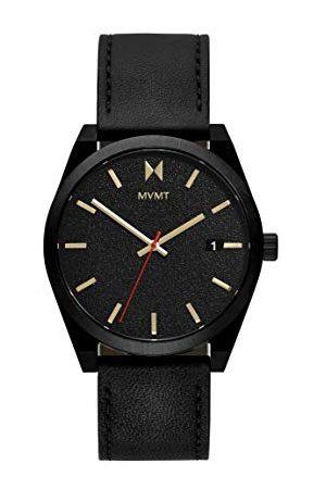 MVMT Męski analogowy zegarek kwarcowy ze skórą cielęcą ze skóry 28000053-D
