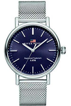 River Woods Hudson męski zegarek na rękę bransoletka srebro
