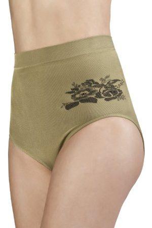 BELLY CLOUD Damskie majtki, modelujące figurę talię, wzór kwiatowy