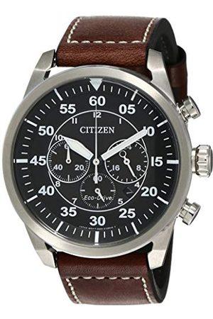 Citizen Męski chronograf kwarcowy zegarek ze skórzanym paskiem CA4210-16E
