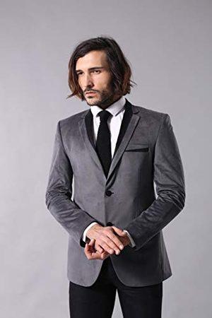 Wessi Męska aksamitna marynarka z dwoma guzikami Business Suit Jacket