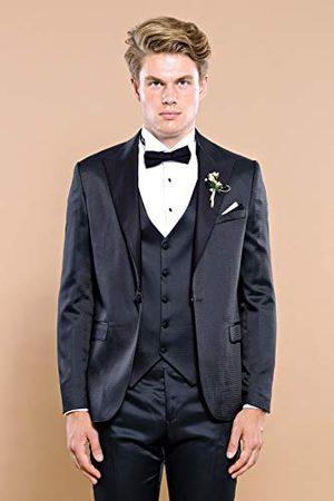 Wessi Męskie buty Slimfit modelowane Reverse moking Tuxedo