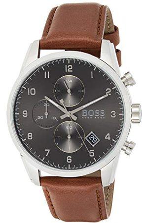 HUGO BOSS Kwarcowy zegarek ze skórzaną bransoletką 1513787