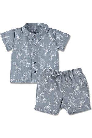 Sterntaler Baby Boys Set koszula z krótkim rękawem i krótkie spodnie piżama dziecięca