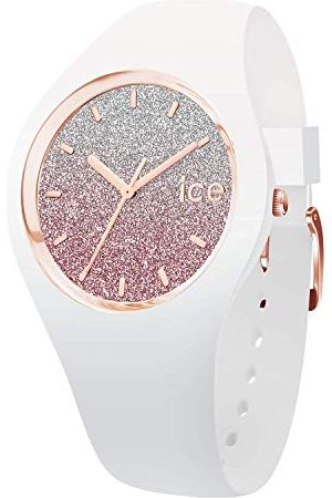 Ice-Watch Ice Lo różowy - zegarek damski z silikonowym paskiem bransoletka Medium