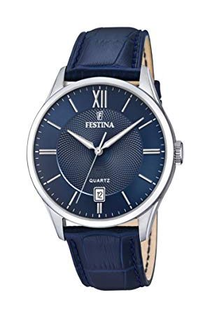 Festina Męski analogowy zegarek kwarcowy ze skórzanym paskiem F20426/2