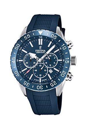 Festina Męski analogowy zegarek kwarcowy z silikonowym paskiem F20515/1