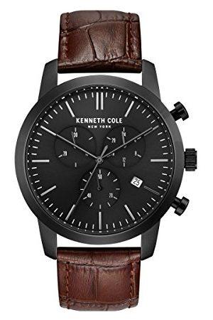 Kenneth Cole Męski analogowy zegarek kwarcowy ze skórzanym paskiem KC50053001
