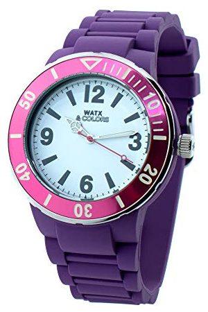 Watx Analogowy zegarek kwarcowy z gumowym paskiem RWA1623-C1520