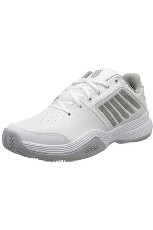 Dunlop Damskie buty sportowe Court Express Hb Sneaker, - White Highrise Silver - 39.5 EU