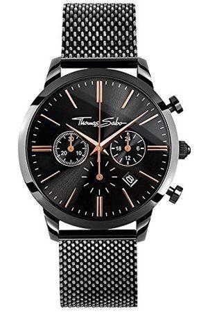 Thomas Sabo Męski zegarek na rękę chronograf kwarcowy stal szlachetna WA0247-202-203-42 mm