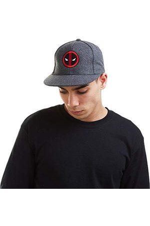 Marvel Męska czapka z logo Deadpool, szara, jeden rozmiar