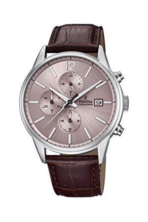 Festina Męski chronograf kwarcowy zegarek ze skórzanym paskiem F20284/2