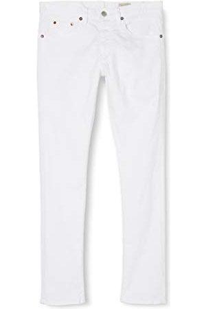 Herrlicher Wspaniałe jeansy męskie Tyler Tapered Denim White Stretch