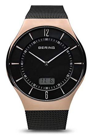 Bering Męski analogowy zegarek kwarcowy z bransoletką ze stali szlachetnej 51640-166