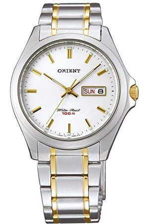 Orient Męski analogowy zegarek kwarcowy z bransoletką ze stali szlachetnej FUG0Q002W6
