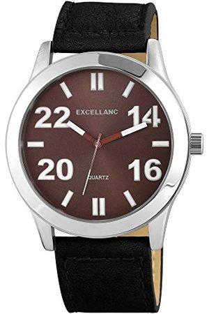 Excellanc Męski zegarek na rękę XL analogowy kwarcowy różne materiały 295021100141