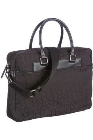 Calvin Klein Ck męskie logo żakardowe torby z uszami, 38 x 28 x 8 cm, - Black 999-38x28x8 cm (B x H x T)