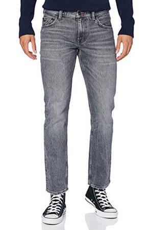Tommy Hilfiger Męskie spodnie z napisem Straight Denton Str Etowa