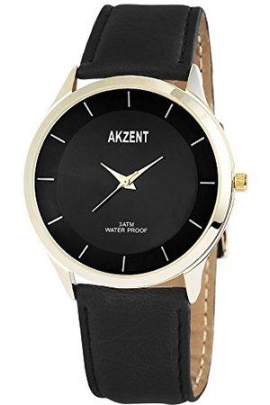 Akzent Męski analogowy zegarek kwarcowy z różnymi materiałami pasek SS750400015