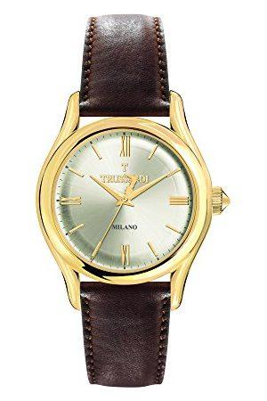Trussardi Męski analogowy kwarcowy zegarek ze skórzanym paskiem R2451127003