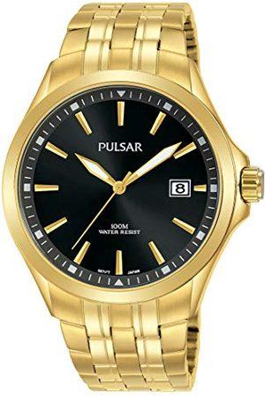 Pulsar Kwarcowy zegarek męski ze stali nierdzewnej z metalowym paskiem kwarcowy. z?oto