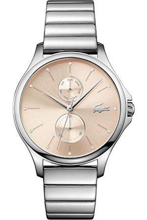 Lacoste Uniseks-dorosły wielofunkcyjny zegarek kwarcowy z paskiem ze stali nierdzewnej 2001026