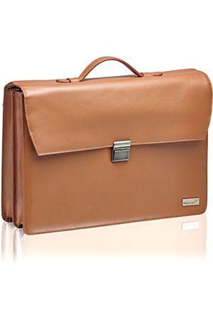 Packenger Aktówka Bjorn do laptopa do 17 cali ze skóry torba na ramię, 43 cm, (vintage braun) - 555-113-007