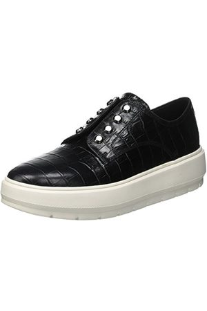 Geox D Kaula C Slip On Sneaker damskie buty typu sneaker, - Schwarz Black C9999-35 EU