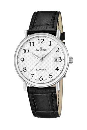 Candino Męski zegarek na rękę XL analogowy kwarcowy skóra C4487/1