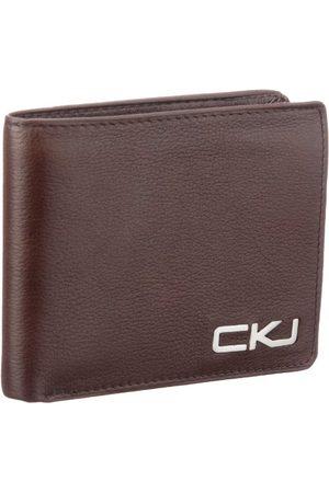 Calvin Klein CK Jeans portfel Billfold monogram, - Braun 184-10 x 13 x 2 cm (B x H x T)