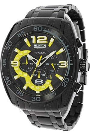 Munich Unisex dla dorosłych analogowy kwarcowy zegarek z bransoletką ze stali szlachetnej MU+134.1C