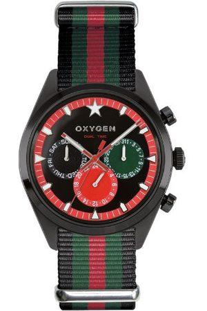 Oxygen Unisex Zegarek na rękę Roma 40 analogowy kwarcowy nylon EX-SDT-ROM-40-NN-BLGNRE